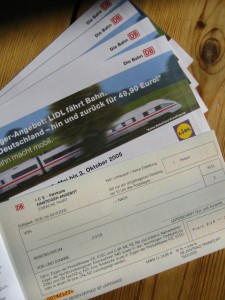 LIDL Bahntickets Hefte